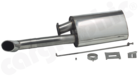Sport Rear Silencer-With oval tailpipe on the left