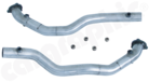 Catalytic Converter Replacement Pipe Set <BR> Crossover Version-Without Catalytic Converters