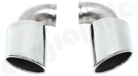 Rear Silencer Replacement Tailpipe Set-Replaces the Wheel well silencer pair