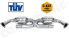 """New """"X""""-pipe construction-for sport catalytic converter sets and <br> catalytic converter replacement pipe sets"""
