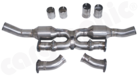 """Sport Catalytic Converter Set <BR>  """"X"""" Pipe Version-Either available with 100cell- or 200cell <BR> Catalytic Converters"""