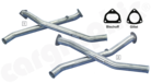 """Catalytic Converter Replacement Pipe Set <BR> """"Crossover"""" Version-Without integrated Catalytic Converters"""