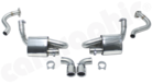 """Cup Rear Silencer Set-- With Ø 2.5"""" (63,5mm) Pipe Work<BR>  - With 2x89mm Tailpipes<BR>"""