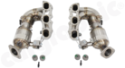 """New Generation Long Tube Manifold Set-- with 2"""" / 50,8mm Primary Diameter<BR> - with integrated 2x100 Cell Catalytic Converters<BR> - not OBD2 compliant / ECU Upgrade required"""