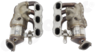 Modified Original Manifold Set for Porsche 981-- In Exchange / OEM Manifolds must be provided<BR> - with integrated 2x200 Cell Catalytic Converters<BR> - fully OBD2 compliant / No ECU Upgrade required